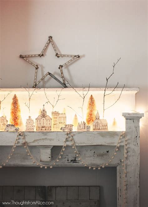 Christmas Tree Home Decorating Ideas diy printable christmas village anthropologie inspired