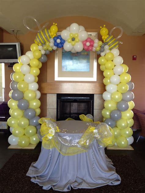 Baby Shower Balloon Arch by Baby Shower Bee Themed Balloon Arch Balloon