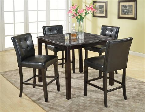 Dining Table 4 Chairs Roundhill Furniture