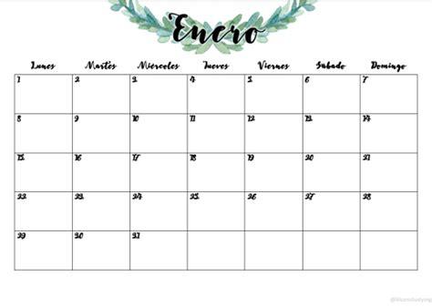 printable monthly calendar tumblr 2018 printable tumblr