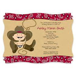 cowboy western personalized baby shower invitations bigdotofhappiness