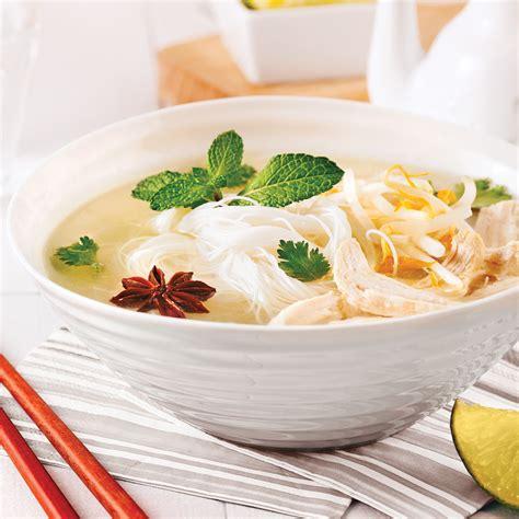 recette cuisine m馘iterran馥nne soupe vietnamienne au poulet et vermicelles de riz
