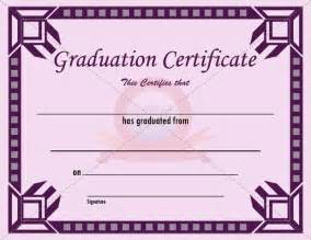 Templates For Graduation Certificates by Graduation Certificate Template New Vision