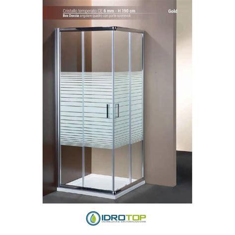 box doccia cromato box doccia quadrato 80x80 cristallo serigrafato 6mm telaio