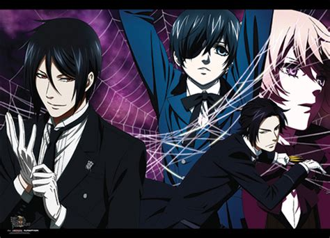 Wallscroll Kuroshitsuji Black Butler Sebastian X Ciel black butler 2 wall scroll sebastian ciel claude alois web archonia us