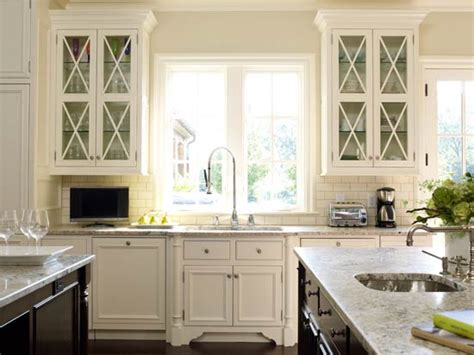 Glass Front Kitchen Cabinet Glass Front Kitchen Cabinets Transitional Kitchen Suzanne Kasler