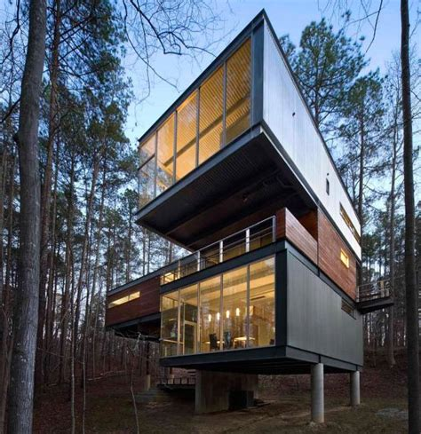 creative home ultramodern cabin creative modernist forest home
