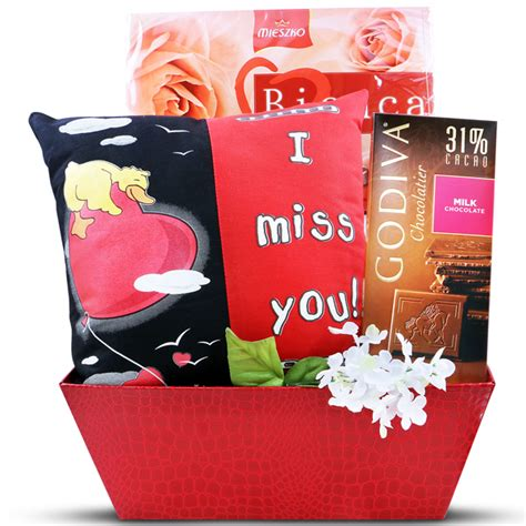 i miss you gift basket valentine s day gift gourmet gift