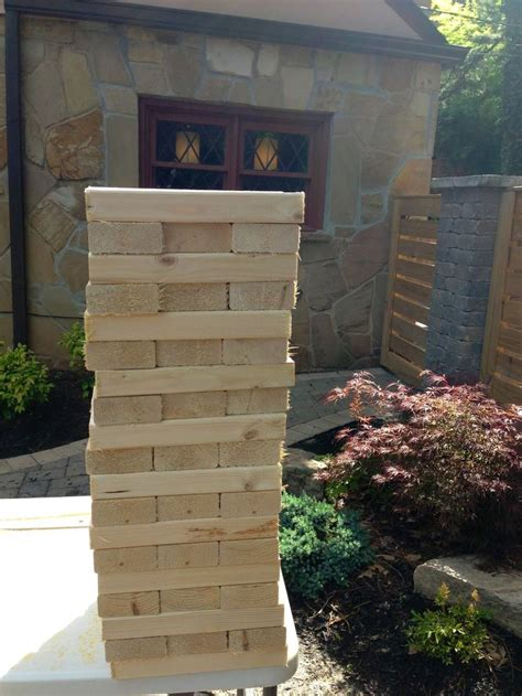 patio jenga decorella diy backyard jenga gifts pinterest my