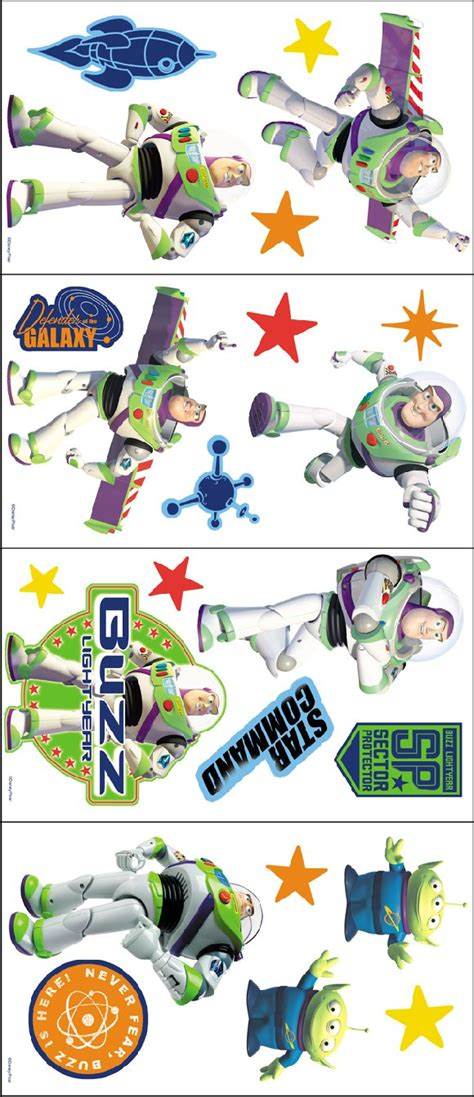 buzz lightyear wall sticker story buzz lightyear room appliques