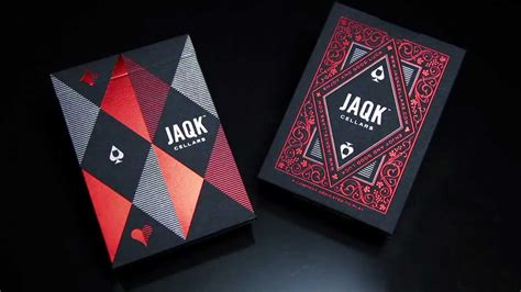 jaqk cellars playing cards red edition theory youtube