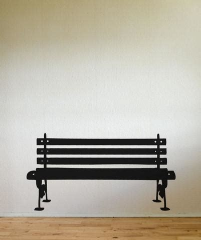 cling bench vinyl wall decal sticker park bench item 889