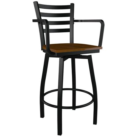 metal bar stools swivel with back swivel ladder back metal bar stool with arms