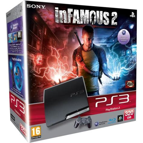 Bd Ps3 Infamous 2 playstation 3 ps3 slim 320gb console bundle includes infamous 2 consoles zavvi