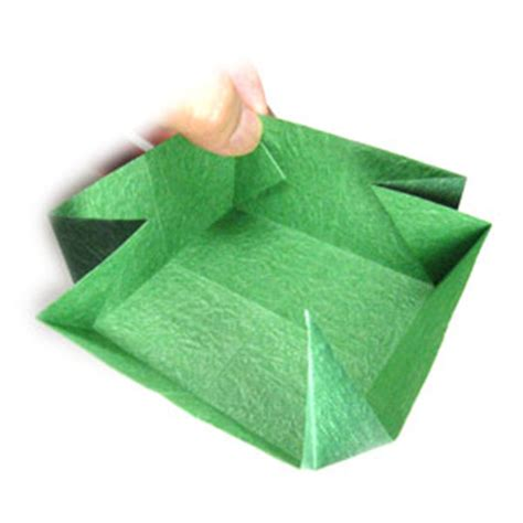 Big Origami Box - how to make a large square origami box page 9