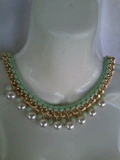 bisuteria con hilo tejido y cristal tejido and collars on pinterest