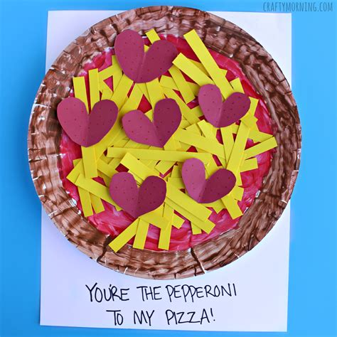 How To Make Paper Pizza - paper plate pepperoni pizza craft crafty morning