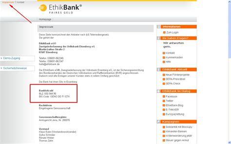 deutsche bank iban bic berechnen sepa auf einen blick ethikbank