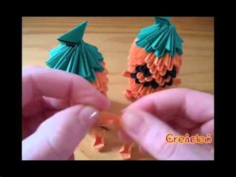 3d origami pumpkin part 2 of 2