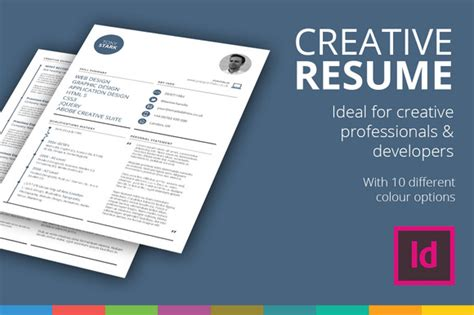 5 cv resume indesign templates summary of product offering template 187 designtube creative design content
