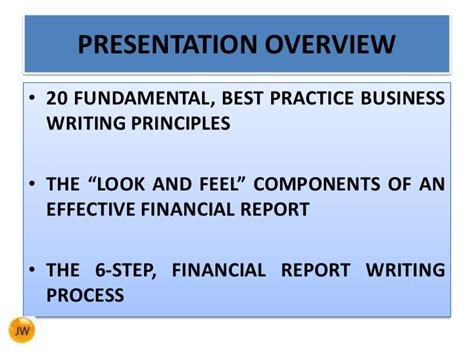 Financial Report Writing by Financial Report Writing Skills Trans Net