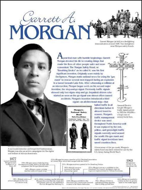 biography black history facts garrett a morgan timeline poster by techdirections the