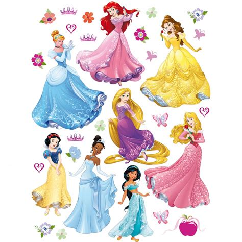 Star Wars Wall Stickers For Bedrooms disney princesses 8 giant stickers great kidsbedrooms