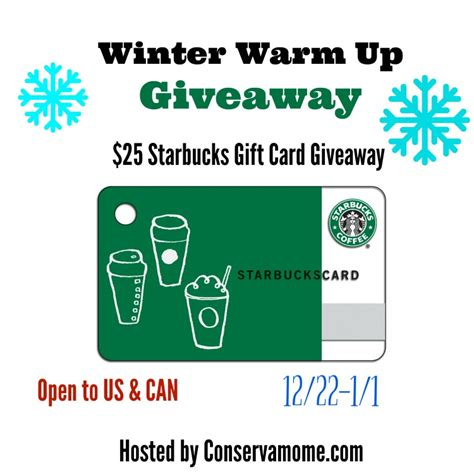 How Much Does A Starbucks Gift Card Cost - 1 000 winter warmup giveaway events promos sweepstakes contests spray events promos