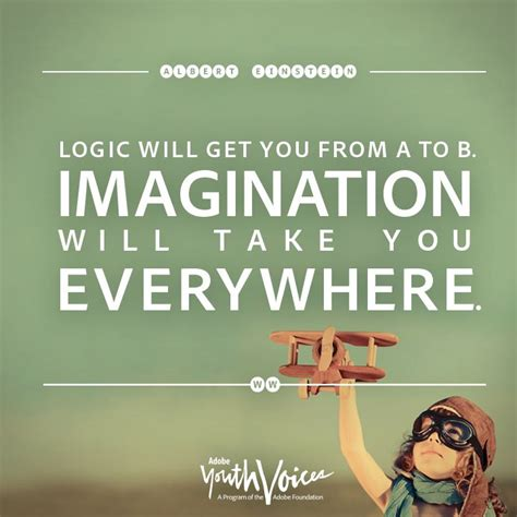 Quote About Quote Quot Logic Will Get You From A To B - logic will get you from a to b imagination will t by