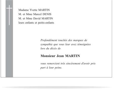 Exemple De Lettre De Départ Remerciement faire part de d 233 c 232 s 224 grenoble imprimerie armand