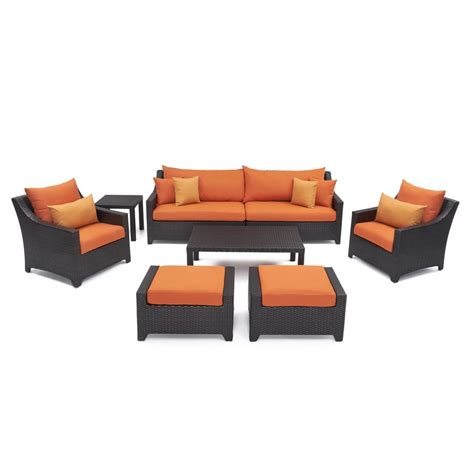 Shop Rst Brands Deco 8 Rst Brands Deco 8 Patio Seating Set With Tikka