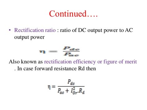 resistance ratio diode power electronics phase rectifier
