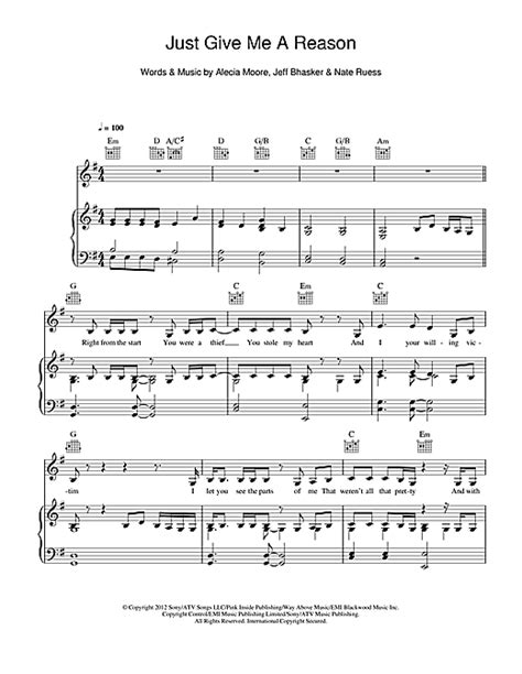 tutorial guitar just give me a reason just give me a reason feat nate ruess sheet music by