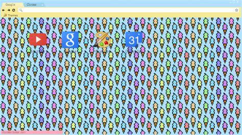 theme google chrome pastel pastel pixel ice cream cones chrome theme themebeta