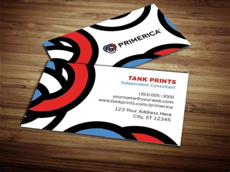 primerica business card template primerica business card design 2