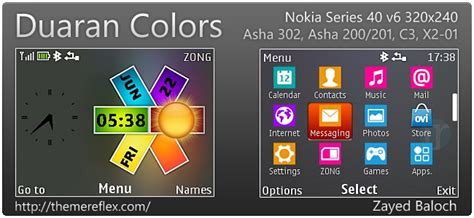 hd themes for nokia asha 302 duoran colors theme for nokia asha 302 c3 00 x2 01 320