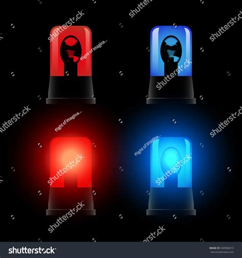 red and blue flashing lights red blue flashing lights signal l stock vector