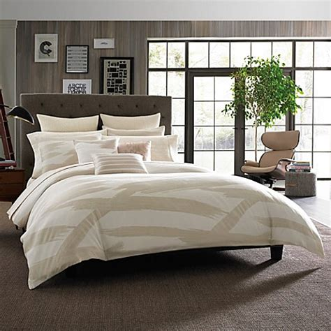 kenneth cole bedding kenneth cole reaction home brushstroke comforter in ivory