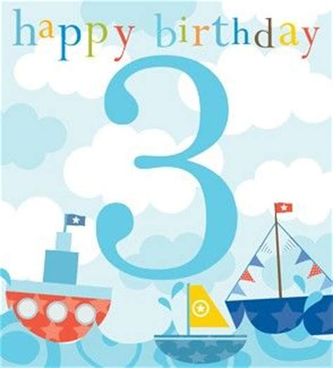 Birthday Quotes For A 3 Year Boy Boys Boats 3rd Birthday Card Karenza Paperie