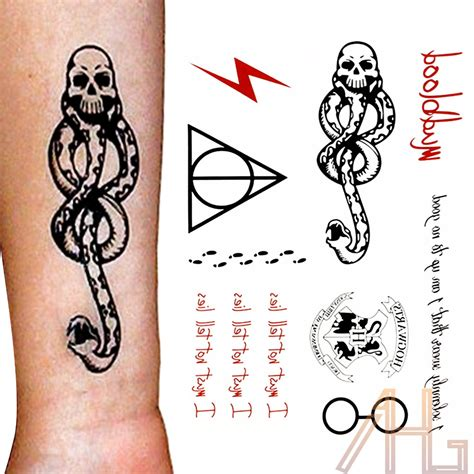 death eaters tattoo harry potter temporary eater costume