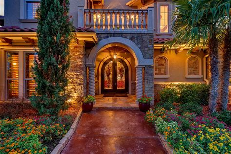 stunning  luxury mediterranean style house  texas