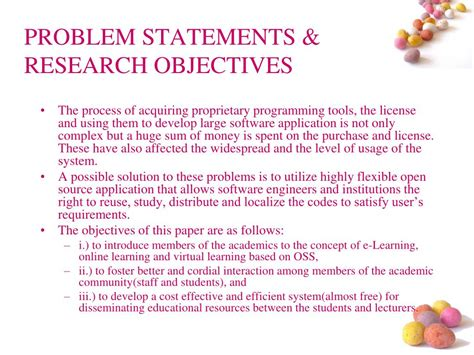 problem statement and research objectives ppt development of an e learning web portal the f oss