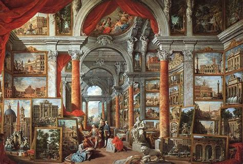 A Painting Within A Painting by Galerie De Vues De La Rome Moderne Wikip 233 Dia