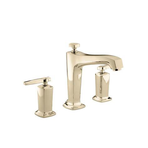 Kohler Margaux Faucet by Kohler Margaux 1 Handle Deck Mount High Flow Bath Faucet Trim Kit In Vibrant Gold Valve