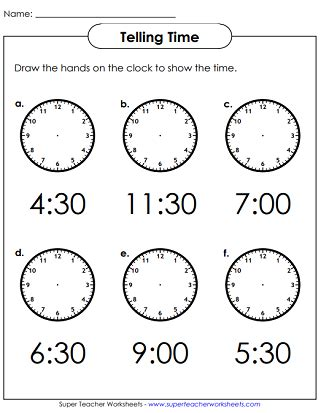 clock worksheets hour and half hour time worksheets hours half hours