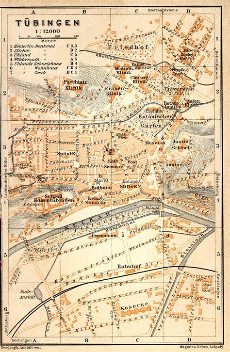 tubingen germany map free maps of germany