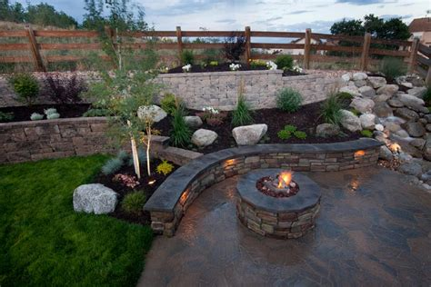 backyard water feature backyard landscape with water feature curved stone wall hgtv