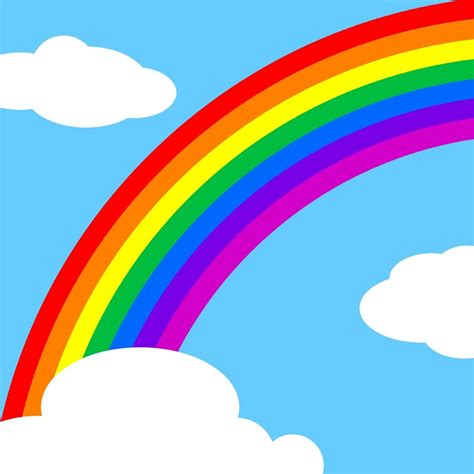 Pictures Of Rainbows To Color by Rainbow Learning