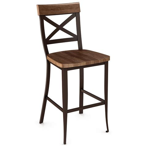 Amisco Bar Stools Kyle Wood Bar Stool By Amisco Collectic Home