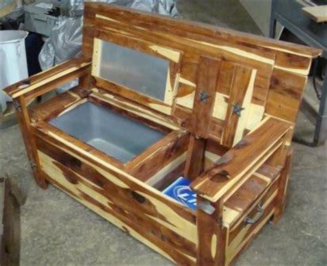 cooler bench big tex rustic